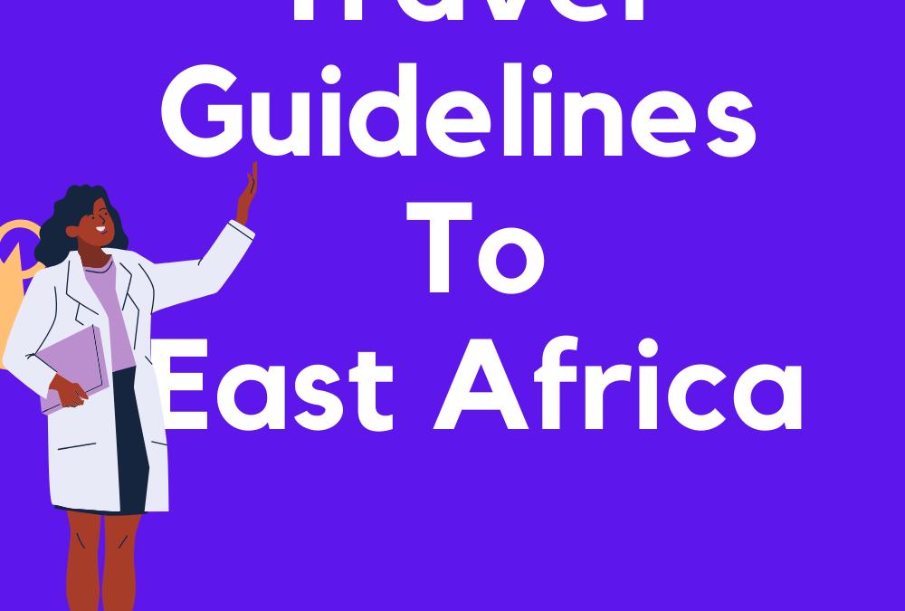 coronavirus travel guidelines to East Africa