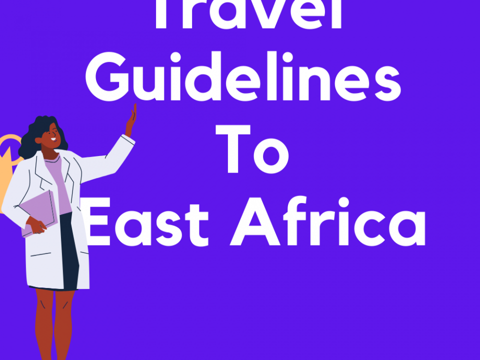 coronavirus travel guidelines to East Africa